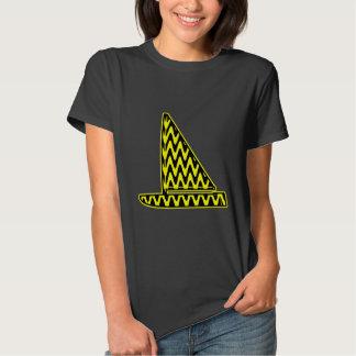 Black and Yellow Zigzag Sailboat Shirt