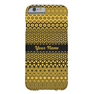 Aztec Themed Black and yellowish decorative pattern barely there iPhone 6 case