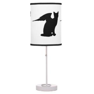 Black Angel Cat Desk Lamp