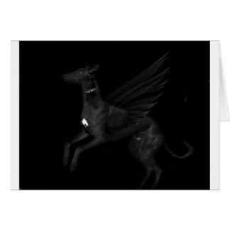 Black Angel Greyhound Card