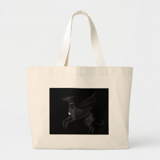 Black Angel Greyhound Large Tote Bag