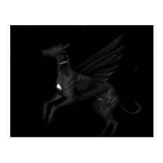 Black Angel Greyhound Postcard