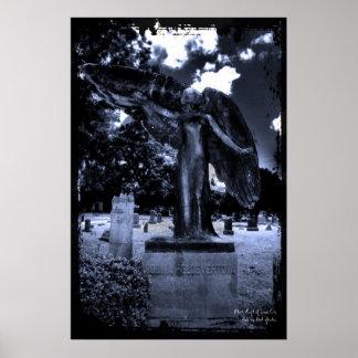 Black Angel of Iowa City  Print