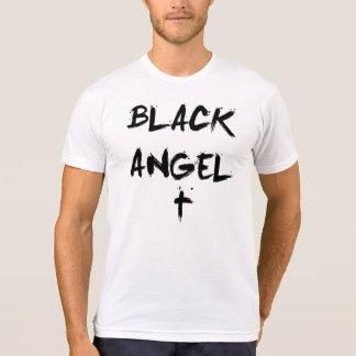 Black Angel Simple White T-Shirt