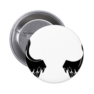 Black Angel Wings Pinback Button