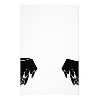 Black Angel Wings Stationery