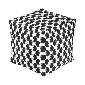 Black Angelfish Cube Pouf