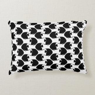Black Angelfish Decorative Pillow