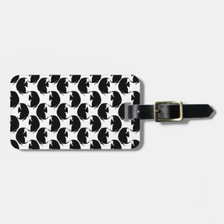 Black Angelfish Luggage Tag