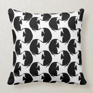 Black Angelfish Pillow