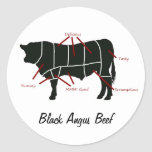 Black Angus Beef  Butcher Chart - Tasty Yummy Stickers
