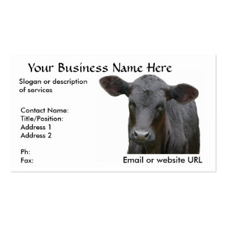 Black Angus Beef Cow Double-Sided Standard Business Cards (Pack Of 100)