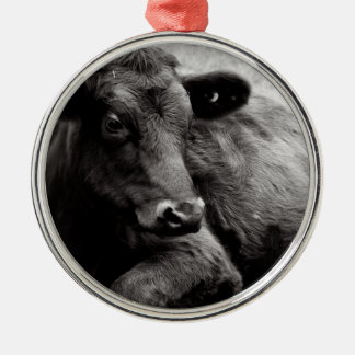 Black Angus Beef Cow Metal Ornament