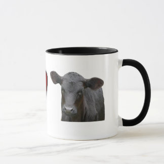 Black Angus Beef  - I love heart design Mug