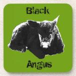 """Black Angus"" Black Calf Coaster"