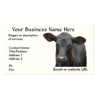 Black Angus Calf Business Card