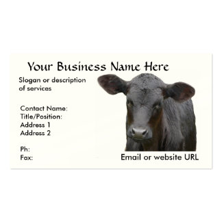 Black Angus Calf  for Cattle Rancher Business Card