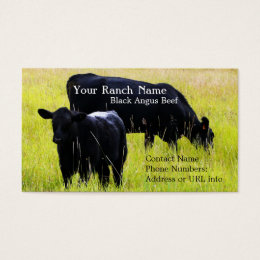 Cow business cards templates zazzle black angus cattle grazing in field business card colourmoves