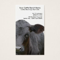 Black Angus Cattle Ranch Business Card