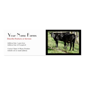 Black Angus Cattle Ranch Double-Sided Mini Business Cards (Pack Of 20)