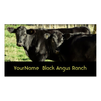 Black Angus Cattle Ranch Double-Sided Standard Business Cards (Pack Of 100)
