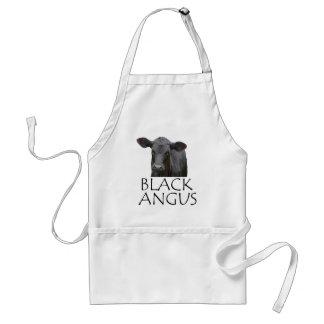 Black Angus Cow Adult Apron