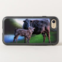 Black Angus Cow and Calf OtterBox Symmetry iPhone 8/7 Case