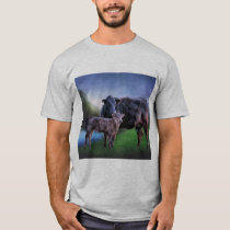 Black Angus Cow and Calf T-Shirt