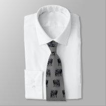 Black Angus Cow & Cute Calf Neck Tie