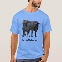 Black Angus Cow & Cute Calf T-Shirt