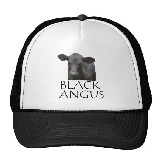 Black Angus Cow Trucker Hat