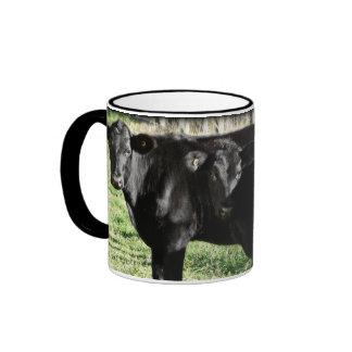 Black Angus Heifer Calves Coffee Mug