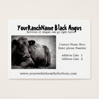 Black Angus Ranch or Farm  Supply Business Cards