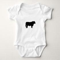 Black Angus Silhouette Baby Bodysuit