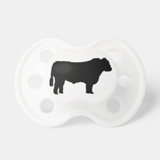 Black Angus Silhouette Pacifier