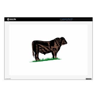 """Black Angus Steer 17"""" Laptop Skins"""