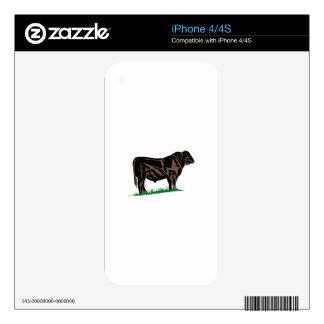 Black Angus Steer iPhone 4S Decal