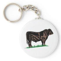 Black Angus Steer Keychain
