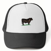 Black Angus Steer Trucker Hat