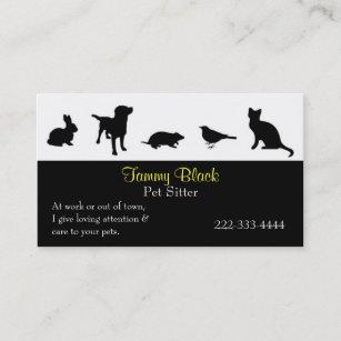 Animal business cards 29700 animal business card templates black animal silhouettes pet care business card colourmoves