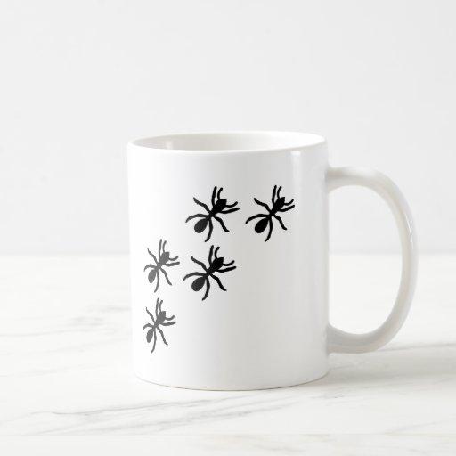 black ant trail classic white coffee mug