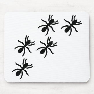 black ant trail mouse pad