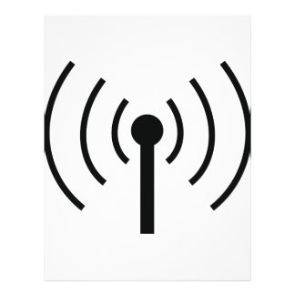 black antenna icon flyer