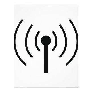 black antenna icon flyer