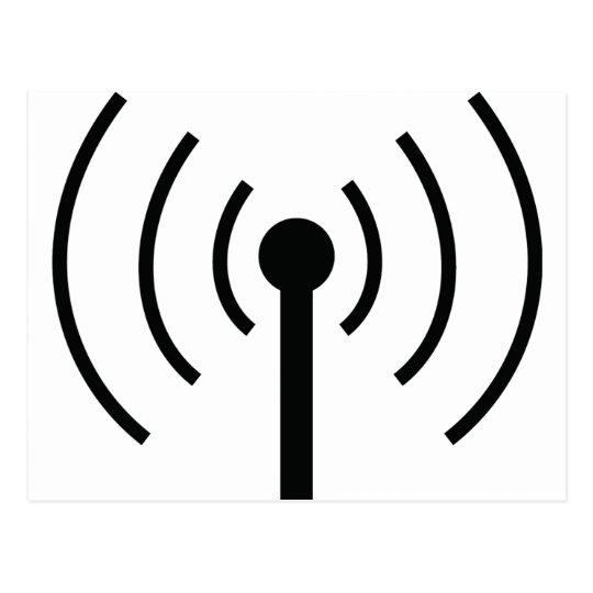 black antenna icon postcard