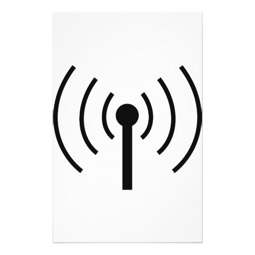 black antenna icon stationery