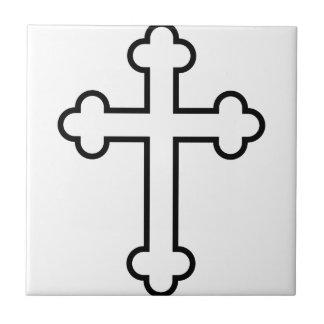 black apostles cross or budded cross ceramic tiles