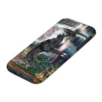Black Appaloosa Horse Waterfall Background Tough iPhone 6 Case