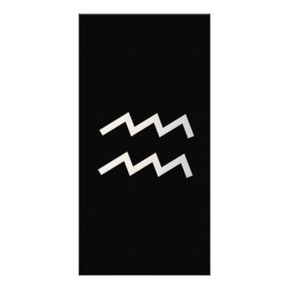 Black Aquarius 2 Zodiac January 20 - February 18 Card