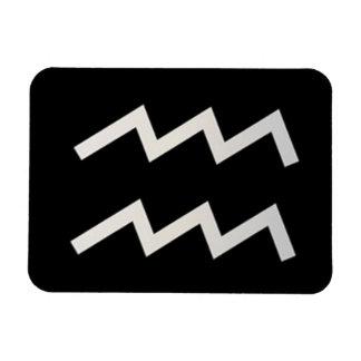 Black Aquarius 2 Zodiac January 20 - February 18 Magnet